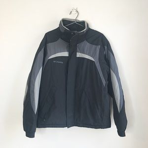 Columbia Waterproof Ski Jacket Black Size Medium